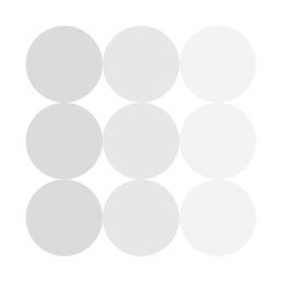 Coin Interest Rate logo - dots in light gray to white gradient