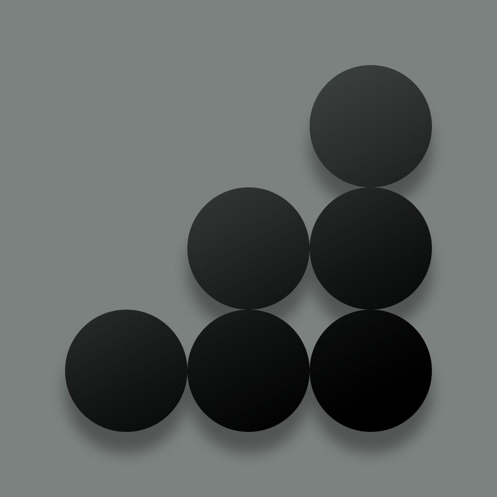 coin interest rate circle design block in dark
