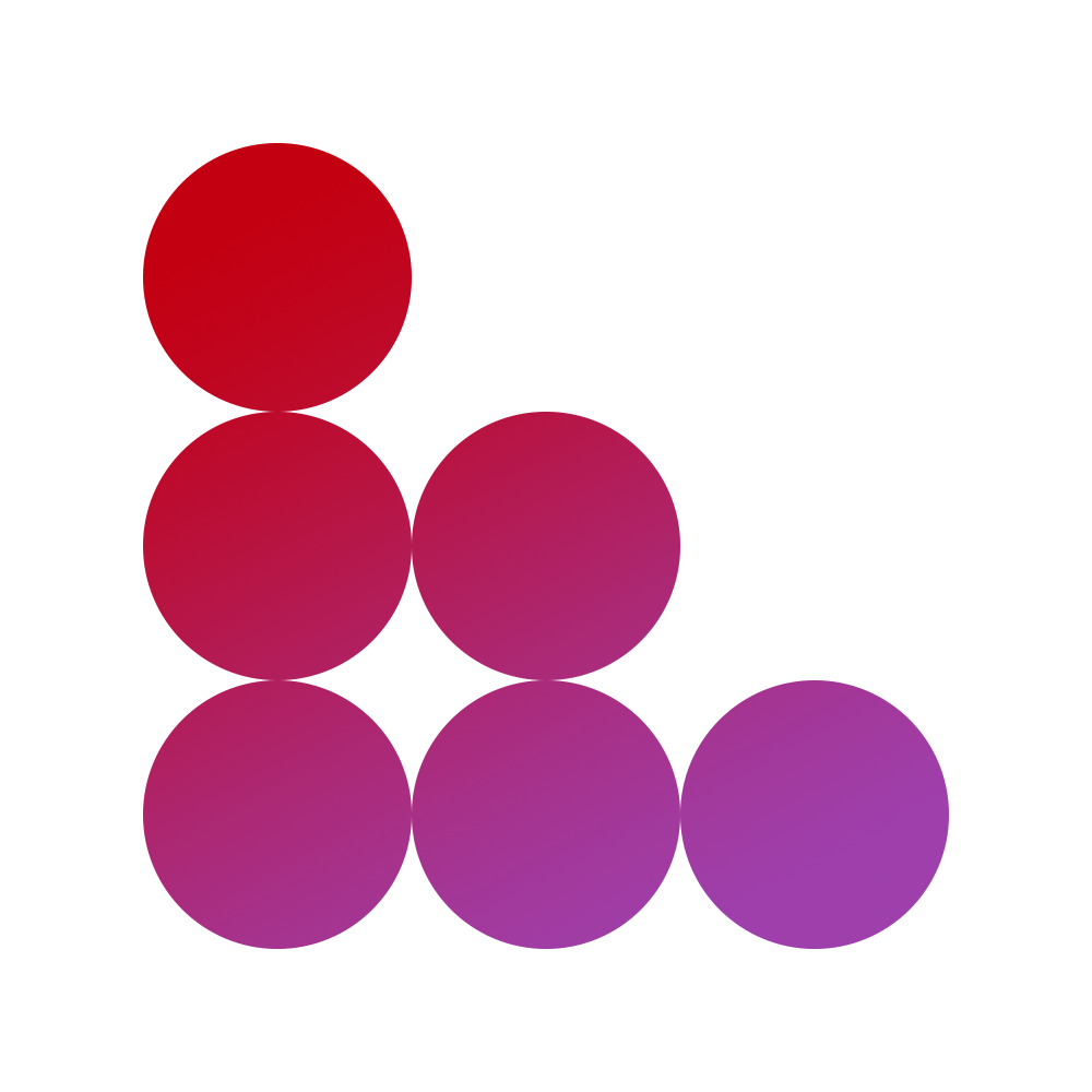 coin interest rate circle design block in red and purple
