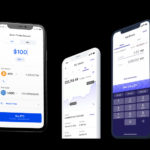 screenshots of crypto interest apps on mobile phones