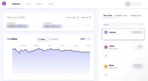 Celsius web app dashboard