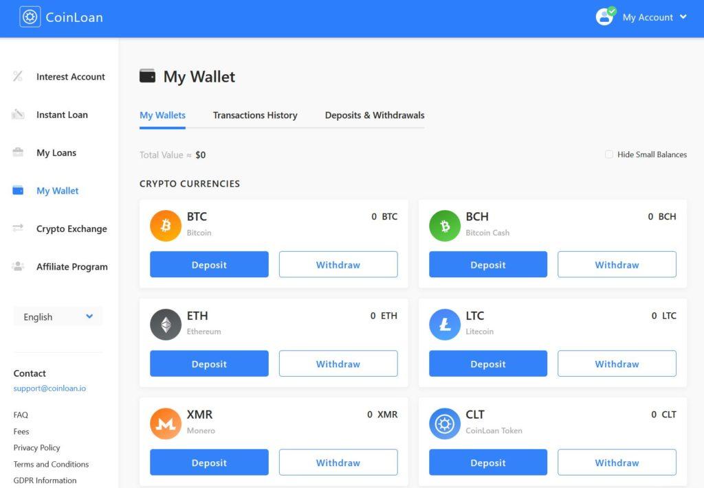 Coin Loan My Wallet Screenshot