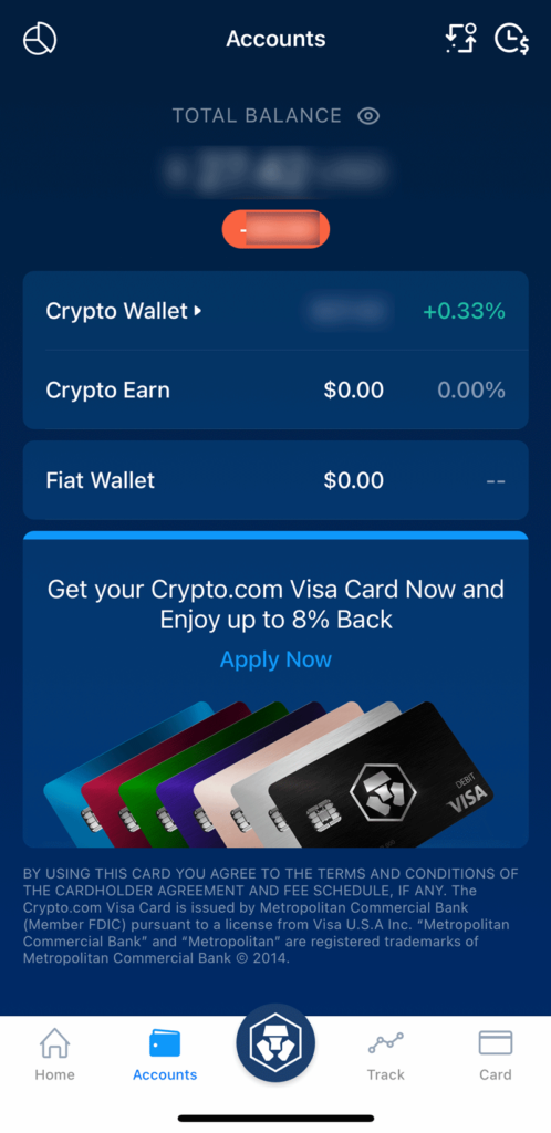 Crypto.com Accounts Overview