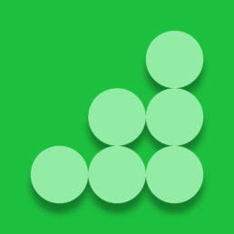 light green dots on green background