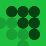 dark green and light green dots on green background